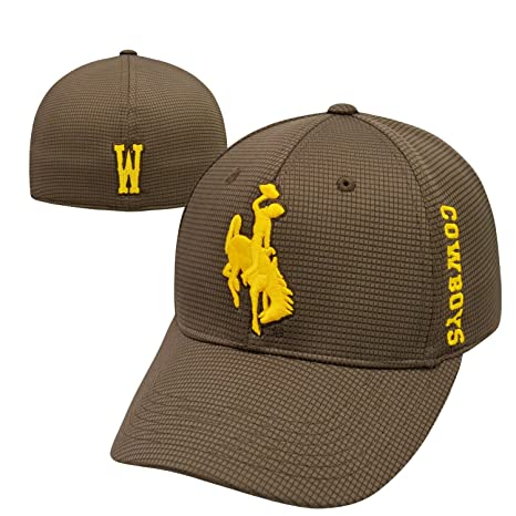 Top of the World Wyoming Cowboys Official NCAA One Fit Booster Plus Hat Cap  025524