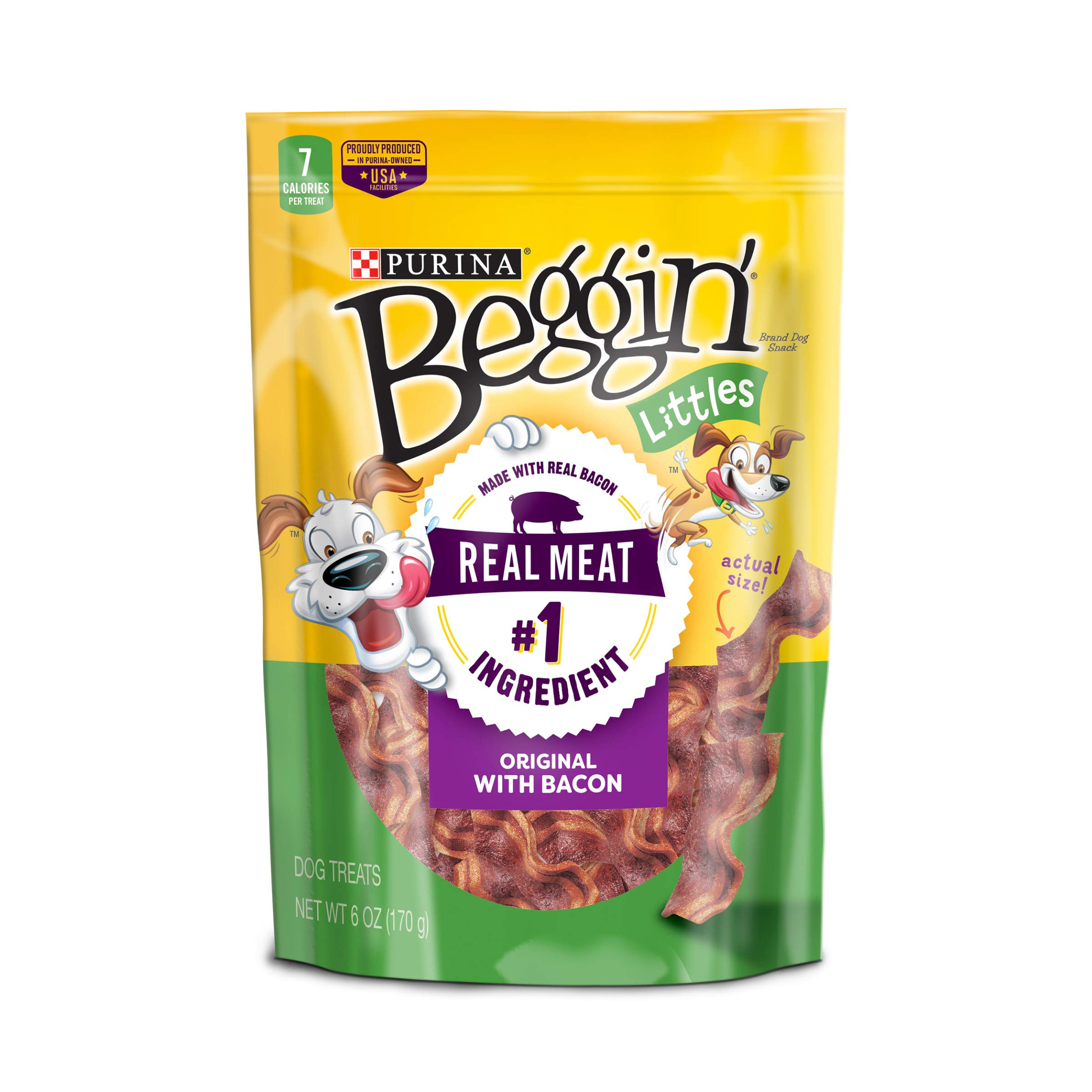 Purina Beggin'' Littles Bacon Flavor Dog Treats - 6 oz. Pouch