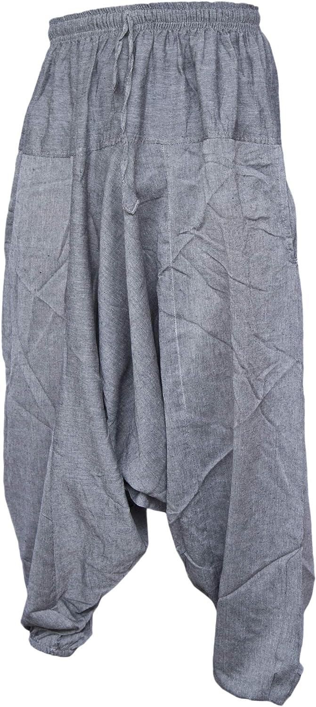 Hombre Pantalones De Algodon Ligero Para Hombres Gris Gris Claro L Pantalones Estilo Ninja Aladino Haren Little Kathmandu Genio Ropa Brandknewmag Com