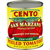 Cento San Marzano Organic Certified Peeled Tomatoes, 28-Ounce Cans (Pack of 12)