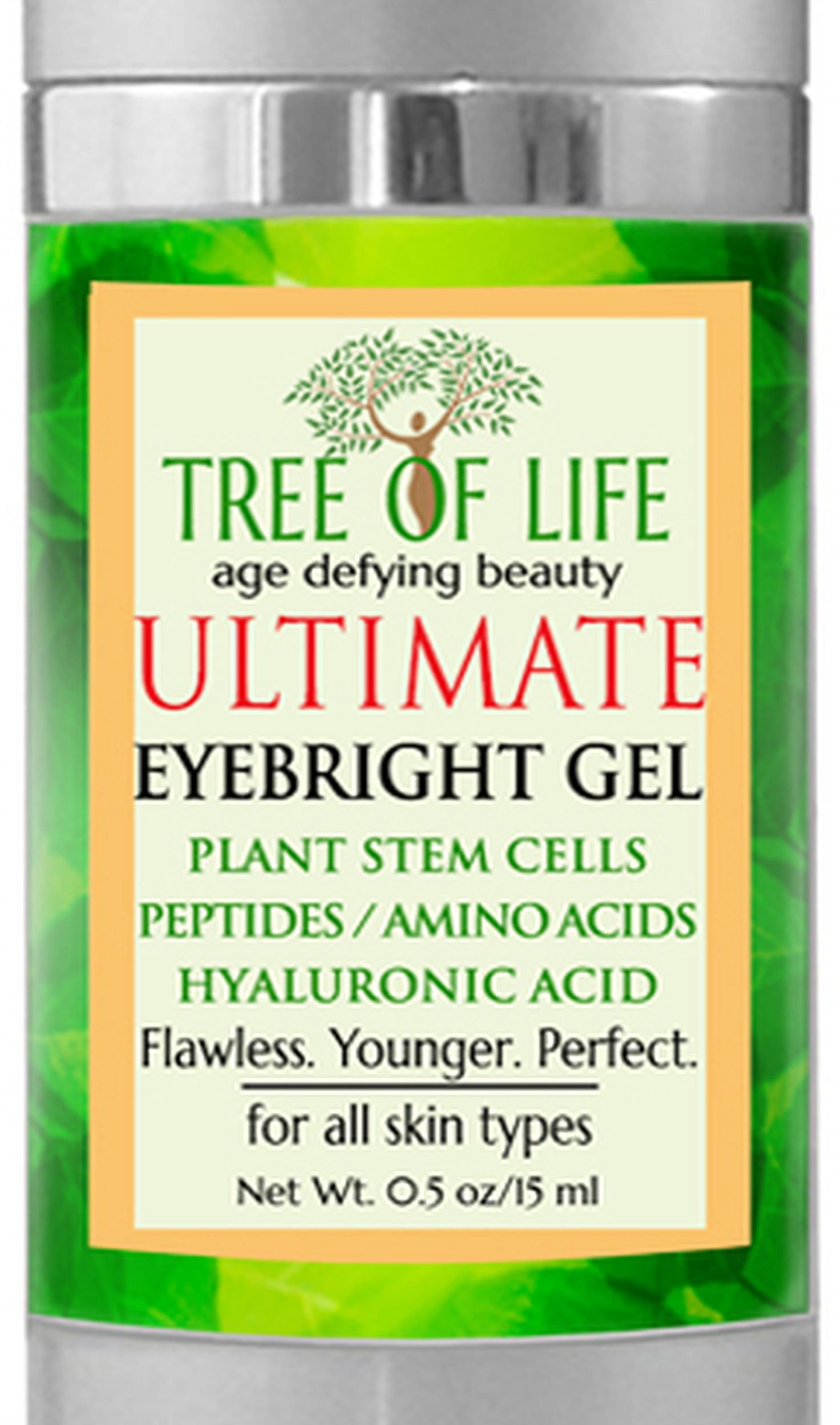 Anti Aging Eye Gel for Dark Circles and Puffiness by Flawless. Younger. Perfect.
