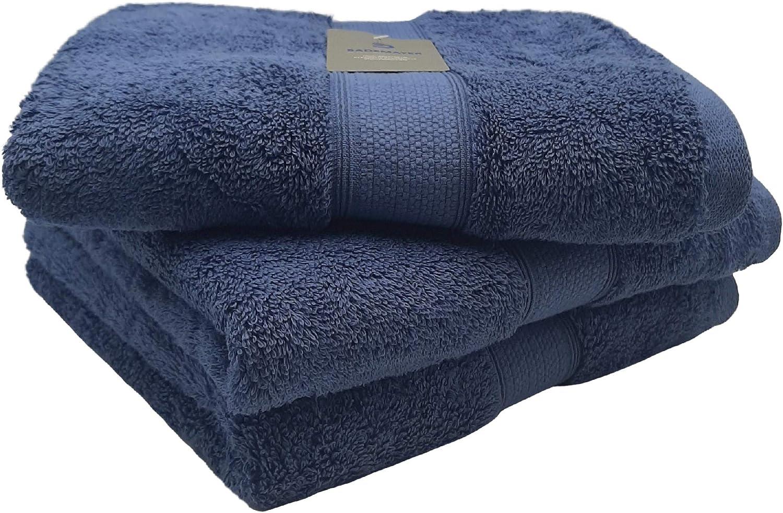 Blau Bademayer Fusselfreies Frottier Handtuch 3er-Set aus100/% /Ägyptischer Baumwolle extra saugstark und weich 50 x 100 cm 600 g//m/² Premium Qualit/ät