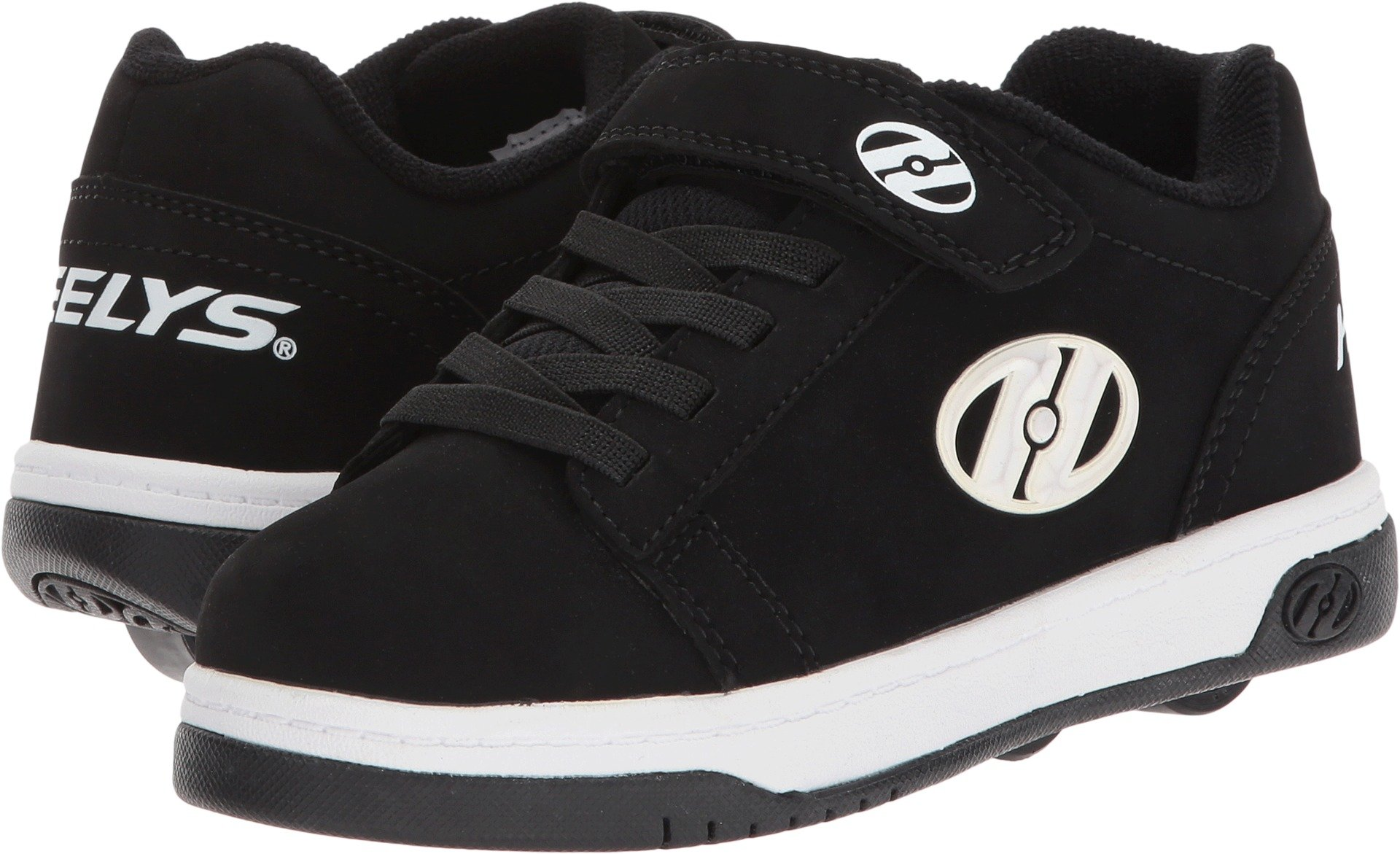 Heelys Boys' Dual UP X6, Black/White, 3