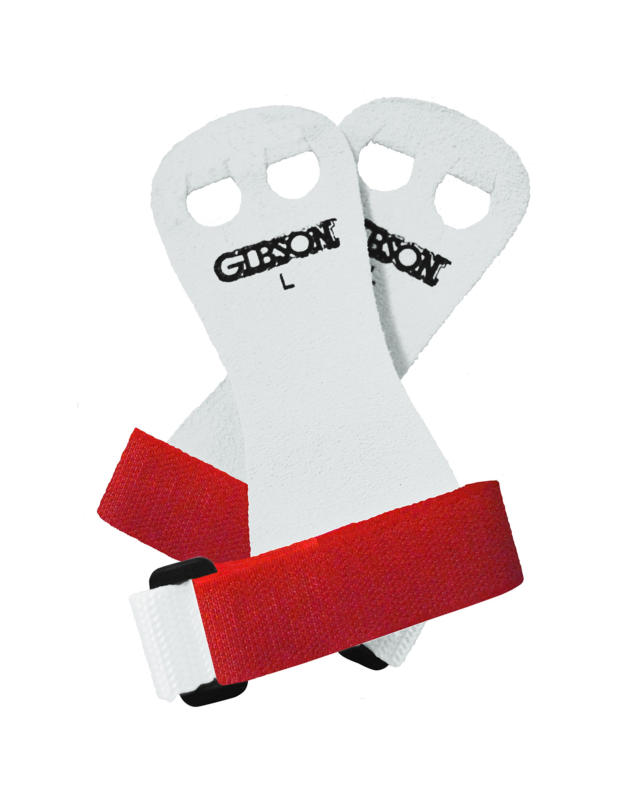 Gibson Athletic Rainbow Palm Grips, White/Red, Large