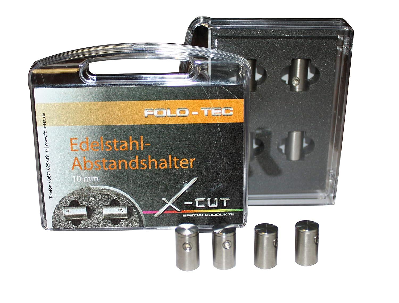 X-Cut Abstandshalter Schilderbefetsigung aus Edelstahl 10 mm Set aus 4 St/ück inklusive Zubeh/ör einfache edele Befestigung von Schilder Bildern