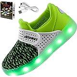 Shinmax Frühling-Sommer-Herbst-Breathable LED Schuhe 7 Farben USB Aufladbare Leuchtschuhe Kinderschuhe mit CE-Zertifikat für Halloween Weihnachten Dank Giving Day
