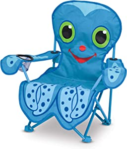 Melissa & Doug Sunny Patch Flex Octopus Beach Chair, Blue (96416)
