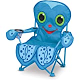 Melissa & Doug Sunny Patch Flex Octopus Folding Beach Chair for Kids, Great Gift for Girls and Boys - Best for 3, 4, and 5 Year Olds