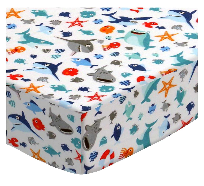 SheetWorld Fitted Portable Mini Crib Sheet - Nautical Blue - Made In USA SHEETWORLD.COM PC-W1139