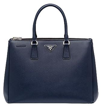 b972cc946d32 Amazon.com  Prada Saffiano Leather Tote Handbag Baltic Blue  Clothing