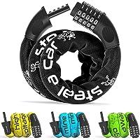 Fietsslot Cijferslot Stalen Ketting antidiefstal   Combinatieslot met Code: Fiets Scooterslot Motorslot Kettingslot Slot…
