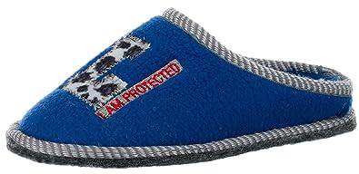 c0bff07bc537f7 Brandsseller Kinder Fleece Hauspantolette Hausschuh Schluppen Pantoffeln - mit  Motiv L - I am Protected -
