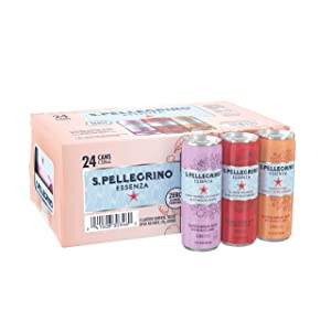 S.Pellegrino Essenza Flavored Mineral Water, Variety Pack 11.15 Fl Oz. Cans (24 Pack), 11.15 Fl Oz (Pack of 24)
