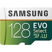Tarjeta de Memoria Samsung EVO Select 128 GB microSD 100 MB/s, Velocidad, Full HD & 4K UHD, Incluye Adaptador SD para…
