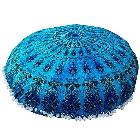 Amazon.com: Planta almohada cómodo Mandala Piso Ronda de ...