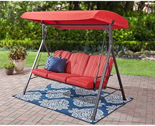 Mainstays Forest Hills 3-Seat Cushion Swing Red