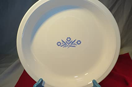 Corning Ware Cornflower Blue Pie Serving Plate ( 9\u0026quot; ... & Amazon.com: Corning Ware Cornflower Blue Pie Serving Plate ( 9\