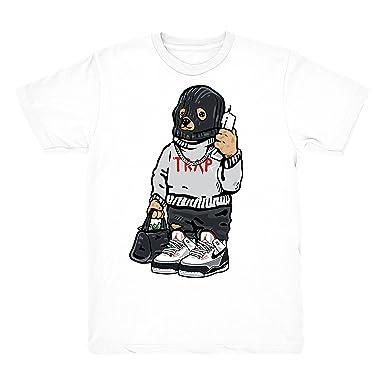 fe492ecbc5e5a8 Tinker 3 Shirt Trap Bear Shirts Match Jordan 3 Tinker Hatfield Sneakers  White T-Shirt