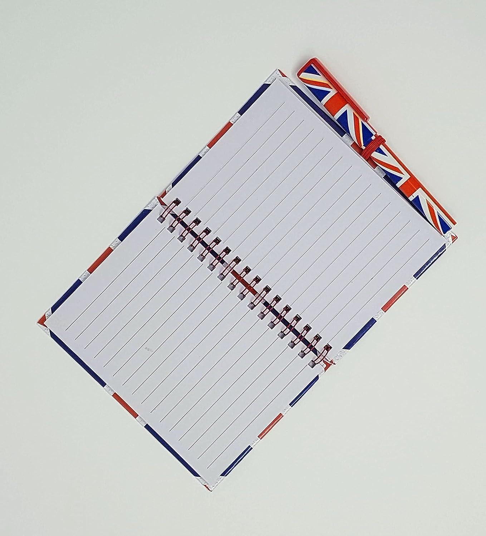 Cuaderno y bolígrafo a juego, tamaño mediano, tamaño A6, diseño de ...
