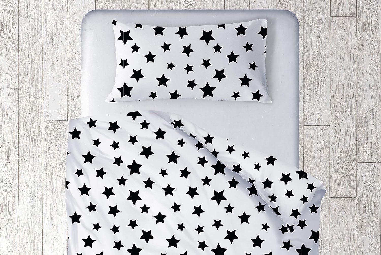 best service f264f 3d67a Amazon.com: Baby Neutral Nursery Stars Duvet Cover, Black ...