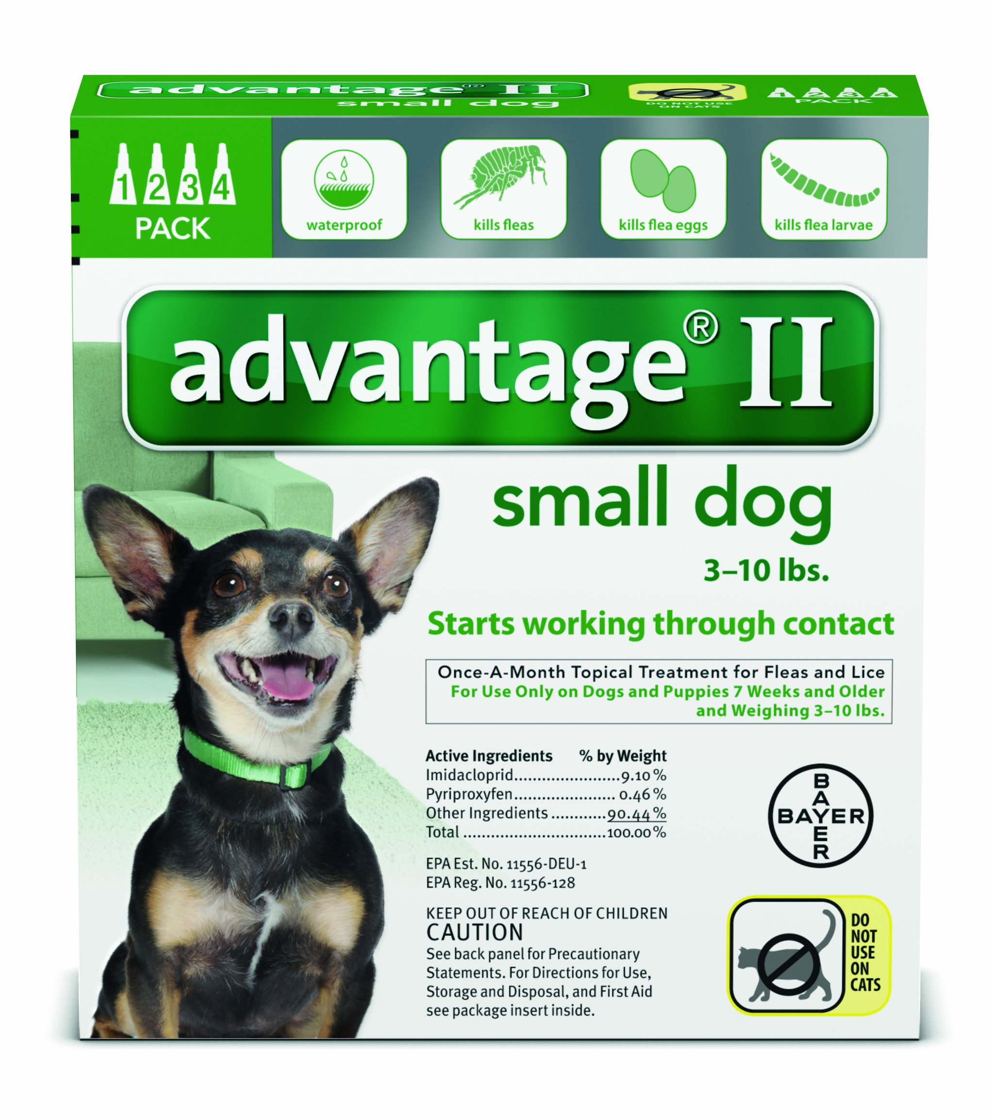 Bayer Animal Health Advantage II for Dogs 6 Month Supply 1-10lb by Bayer Animal Health