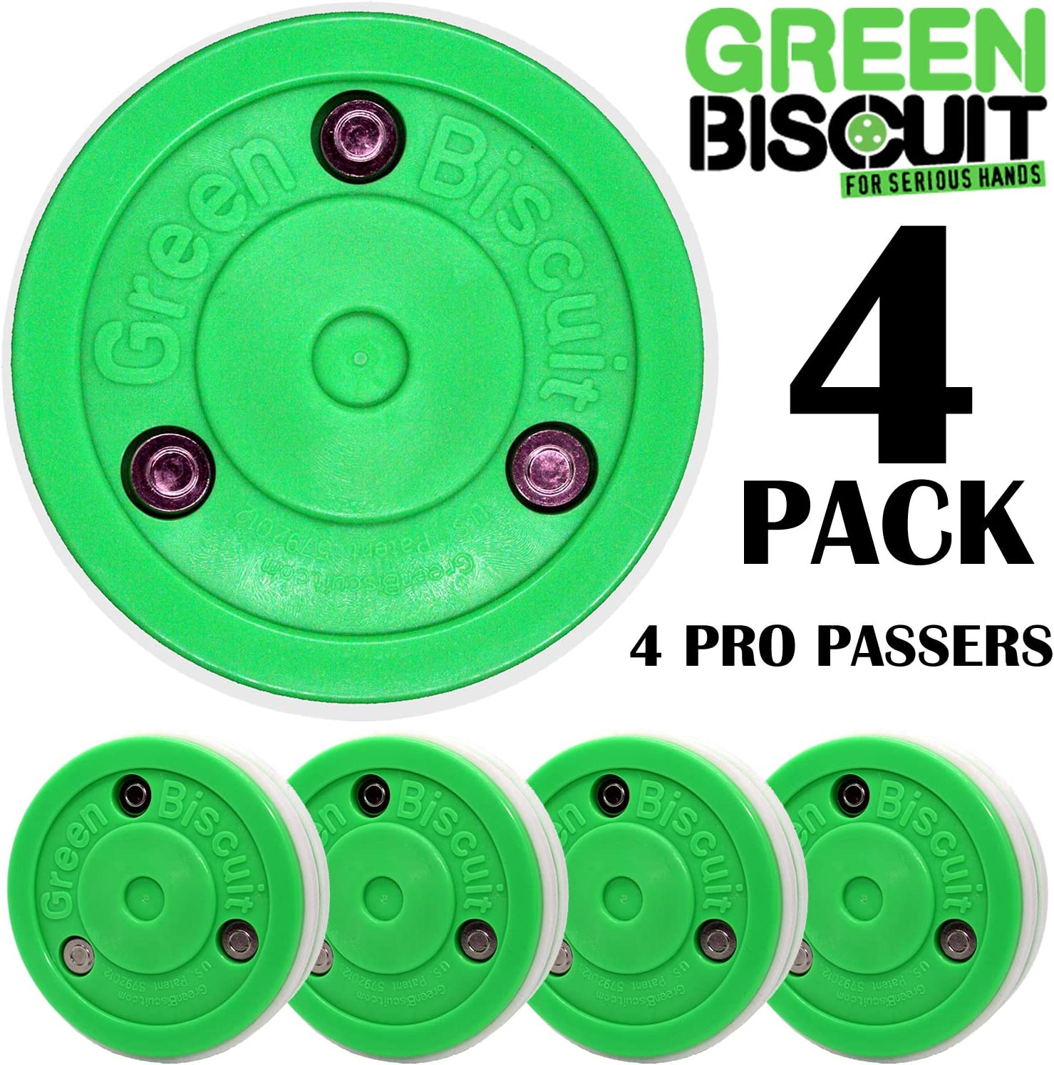 Color Choice Toe Drag stickhandling Green Biscuit Original Hockey Training Puck Passing