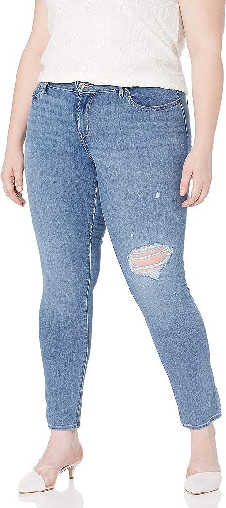 Amazon Com Levi 711 Pantalon De Jean Entubado Para Mujer Negro Suave Clothing