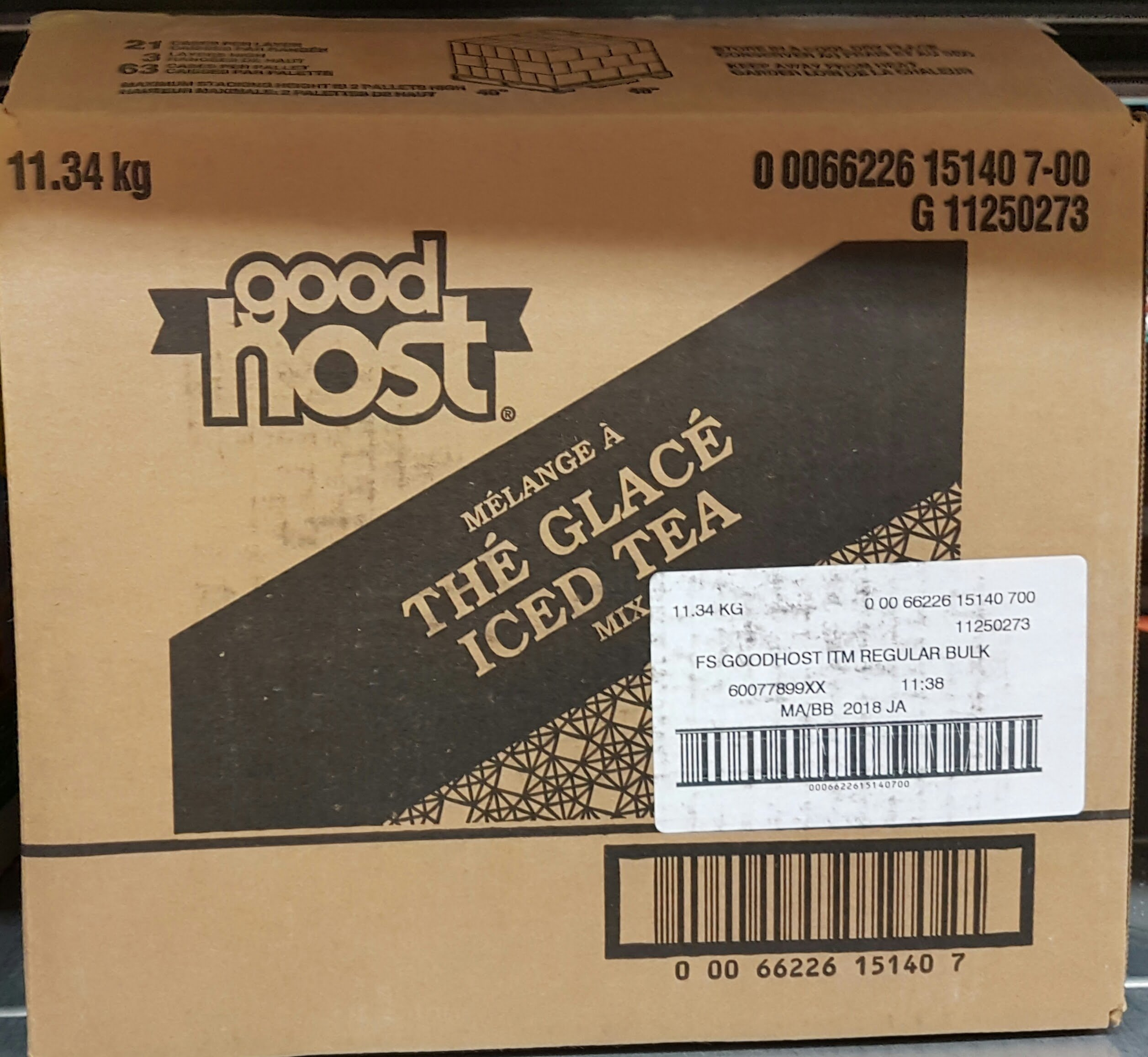 Good Host Ice Tea Mix Huge Bulk Box 11.34kg/25 Pounds {Imported from Canada}