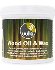 Uulki® Natürliche Holzpflege Holzöl & Holzwachs 2-in-1 für Schneidebretter und Küchenutensilien aus Holz und Bambus - Vegan (250 ml)