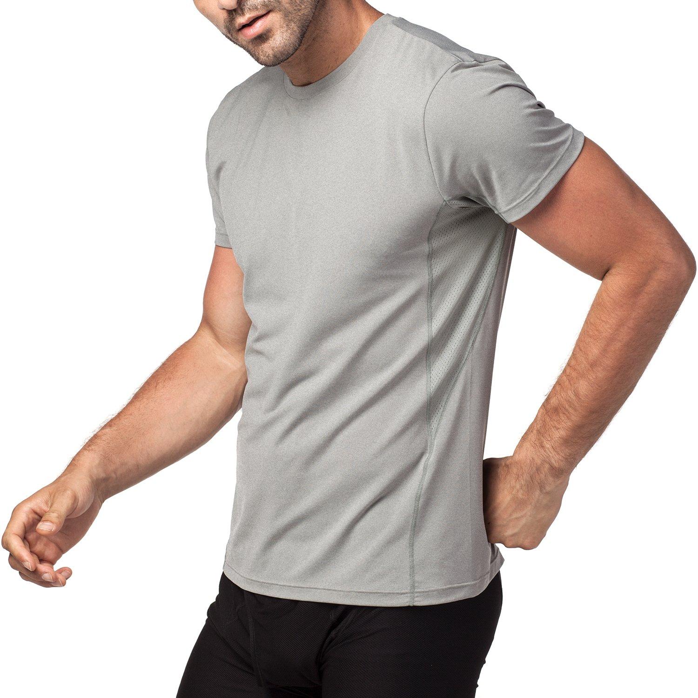 92d31ee10 LAPASA Camiseta Deportiva Hombre de Manga Corta Transpirable y Secado  Rápido con Microperforación en los Costados