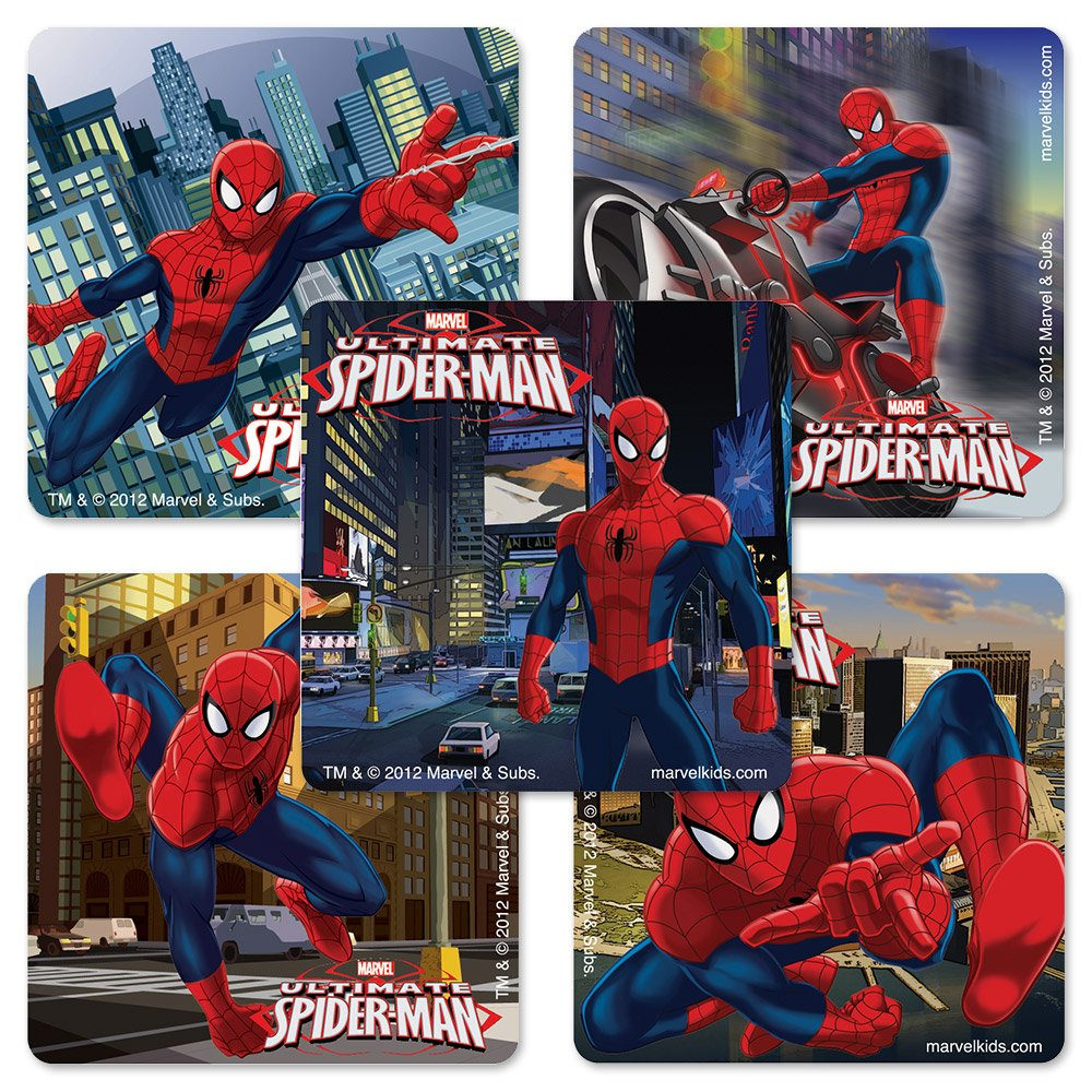 Ultimate Spiderman Stickers - 100 Per Pack
