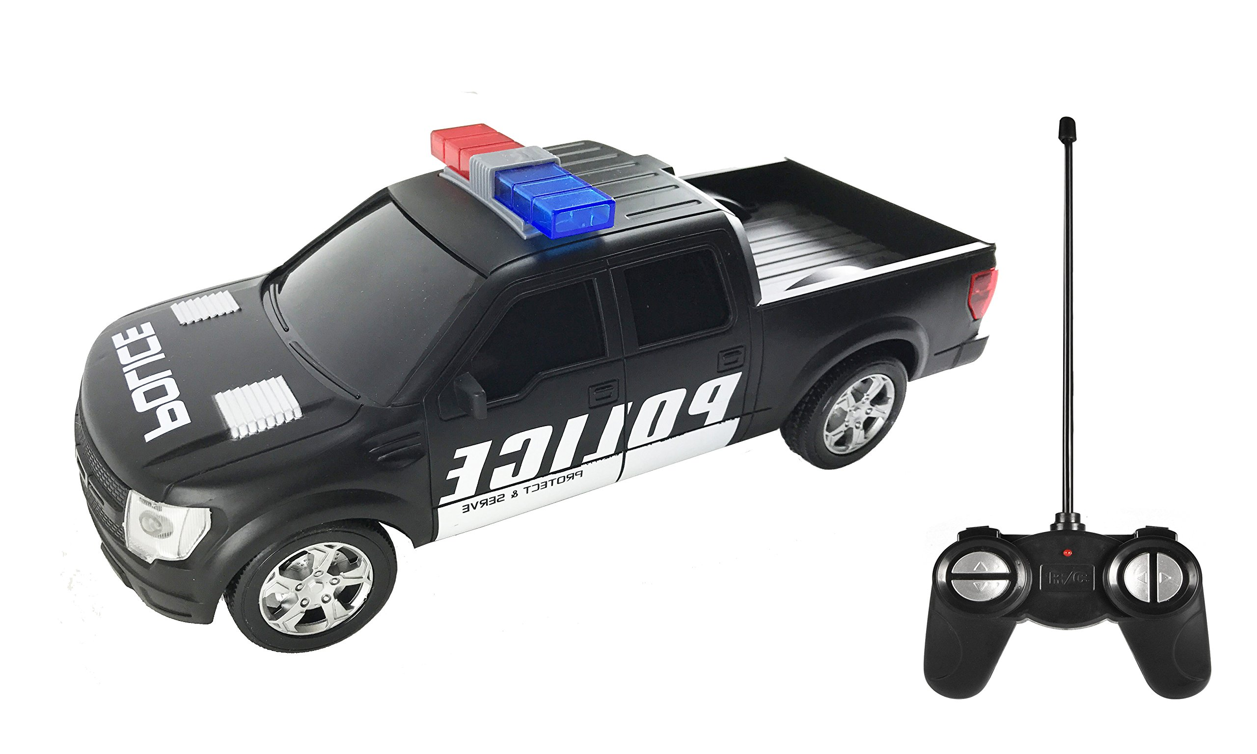Remote Control Rc Police Pickup Truck Vehicle 1 16 Scale