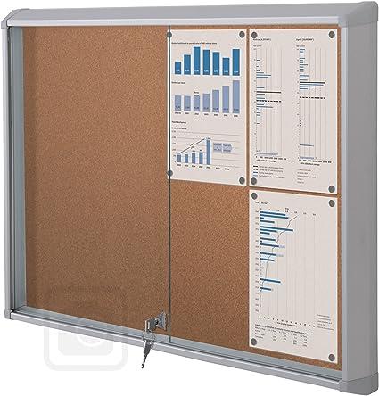 Puerta corrediza de vitrina Interior, scslc24 X A4: Amazon.es: Oficina y papelería