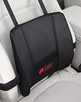 Posture Cushion Maxi Lumbar Support Cushion With High Density Foam And Multiple Strapping Ideal For Car Home Office