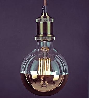 Tagra® Vintage Edison LED Filament Gold Dipped G125 Globe Bulb - 6W / 60W E27 & Tagra® Vintage Edison LED Filament Gold Dipped G125 Globe Bulb ... azcodes.com