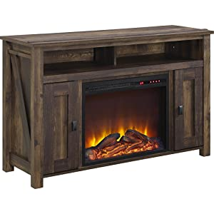 "Ameriwood Home Farmington Electric Fireplace TV Console for TVs up to 50"", Rustic"