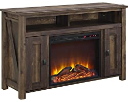 """Ameriwood Home Farmington Electric Fireplace TV Console for TVs up to 50"""", Rustic,1794096COM"""