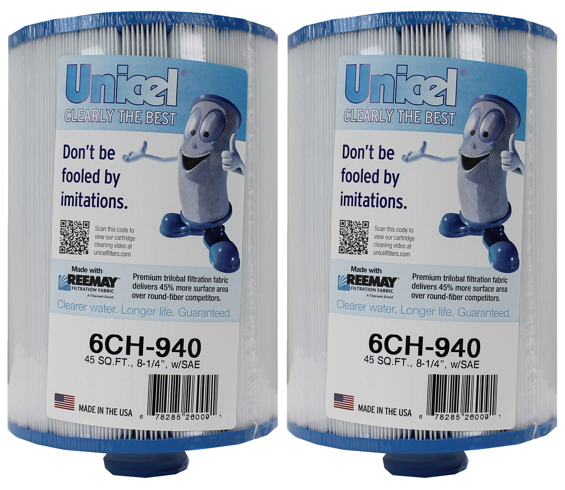 2 New Unicel 6CH-940 Waterway Vita Aber Spa Filter Replacement Cartridges 6CH940 by Unicel