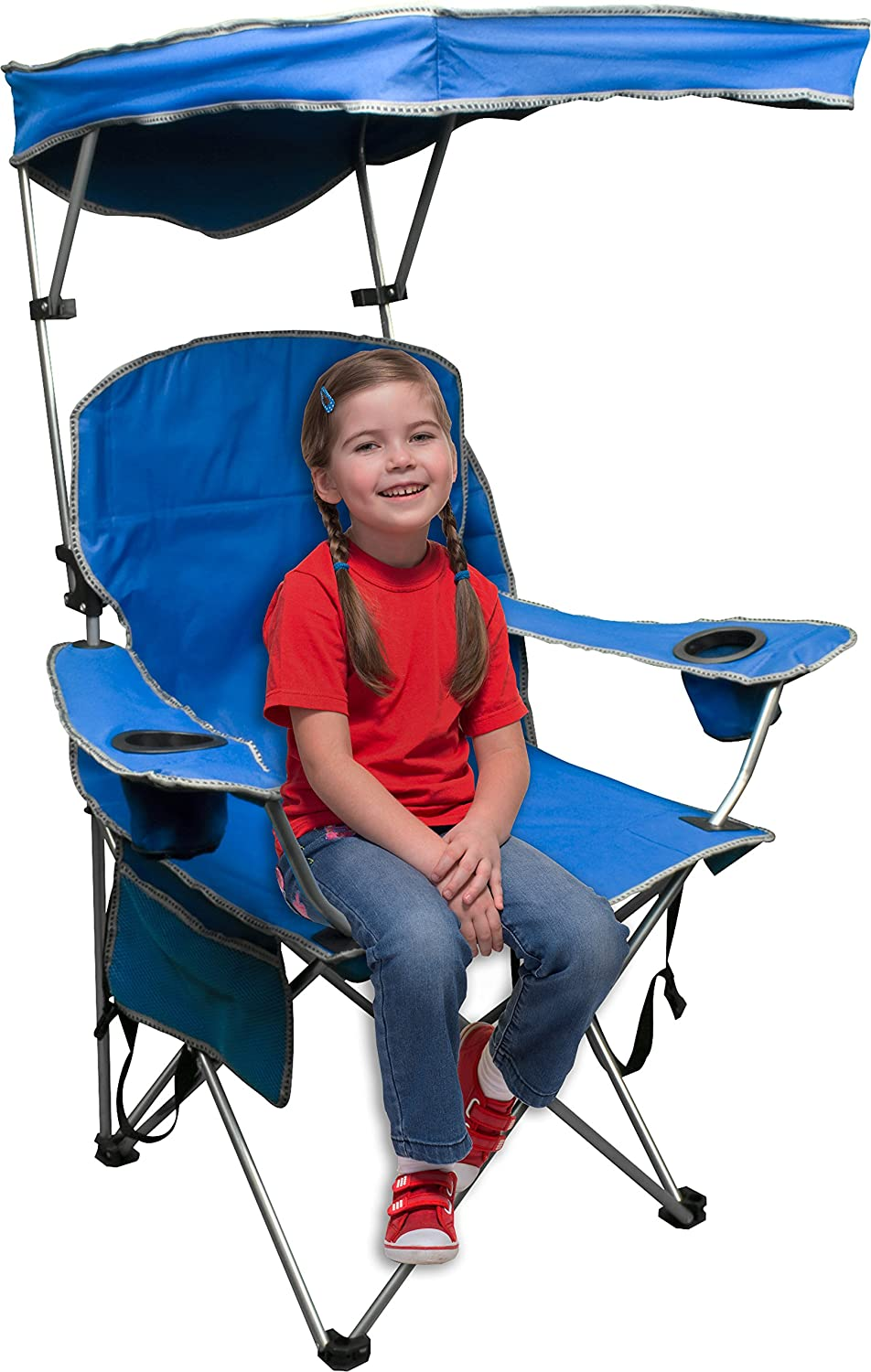 Amazon.com : Quik Shade Adjustable Canopy Folding Camp Chair   Royal Blue :  Folding Sports Chairs : Sports U0026 Outdoors