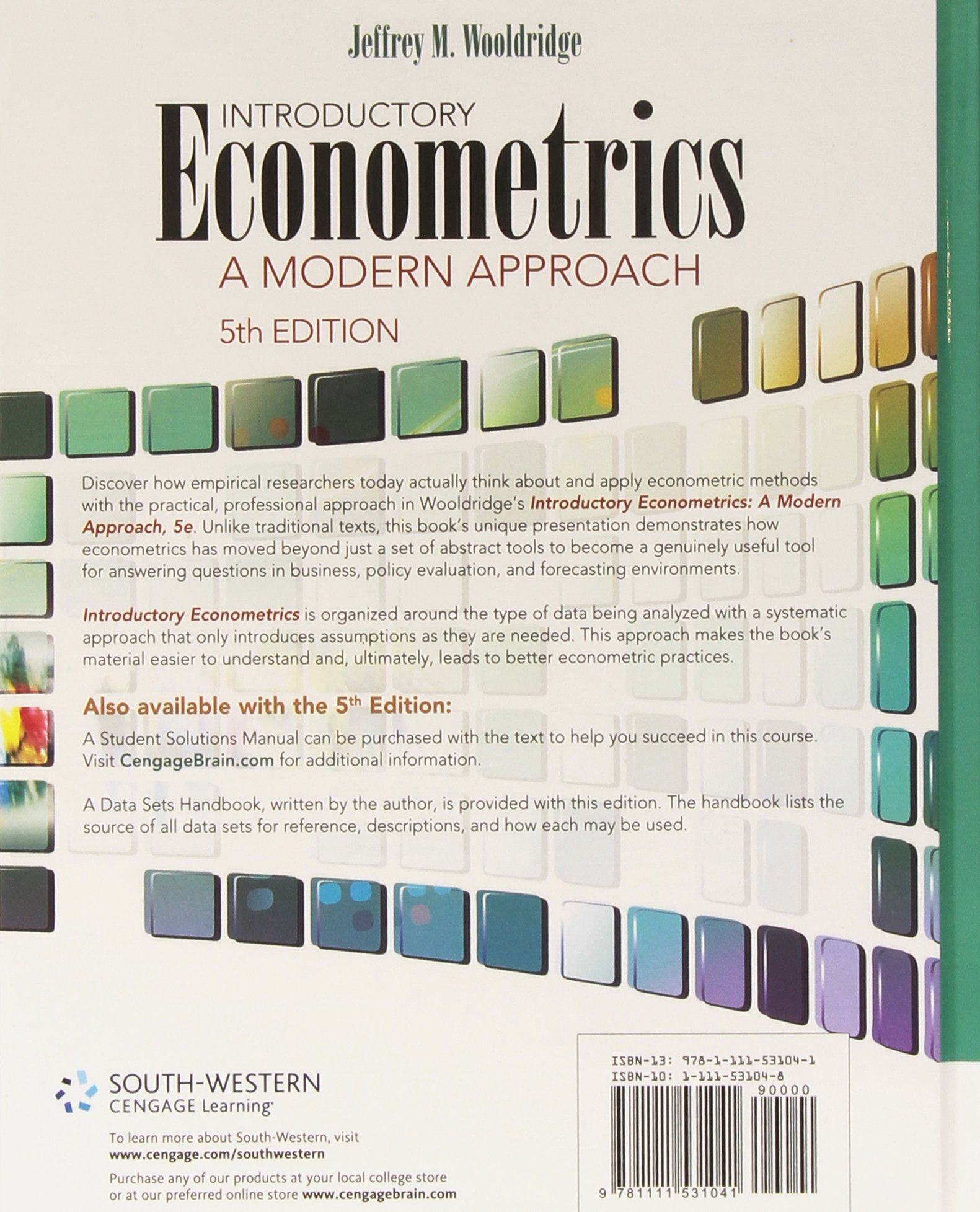 Introductory econometrics a modern approach jeffrey wooldridge introductory econometrics a modern approach jeffrey wooldridge 9781111531041 books amazon fandeluxe Gallery