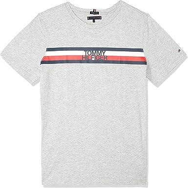 Tommy Hilfiger Camiseta Essential Global Gris 10 Gris: Amazon ...