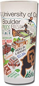 catstudio University of Colorado Boulder Collegiate Drinking Glass | College Inspired Artwork Printed on a Frosted Cup