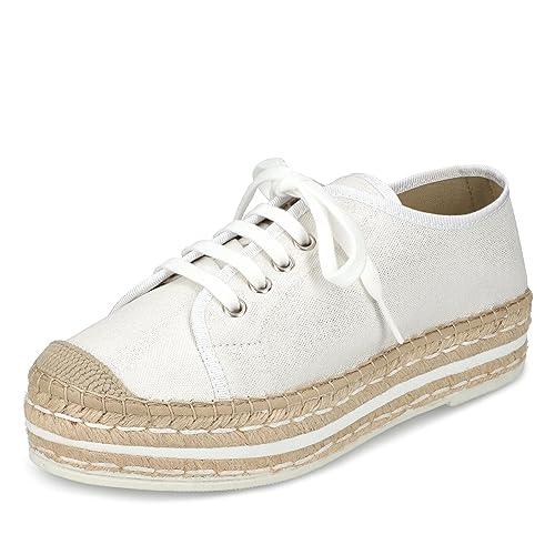 Vidorreta - Mocasines de Tela para Mujer, Color Blanco, Talla 38: Vidorreta: Amazon.es: Zapatos y complementos