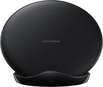 Samsung Cargador inalámbrico Wireless Charger EP N5100T compatible con smartphones QI, negro Version española