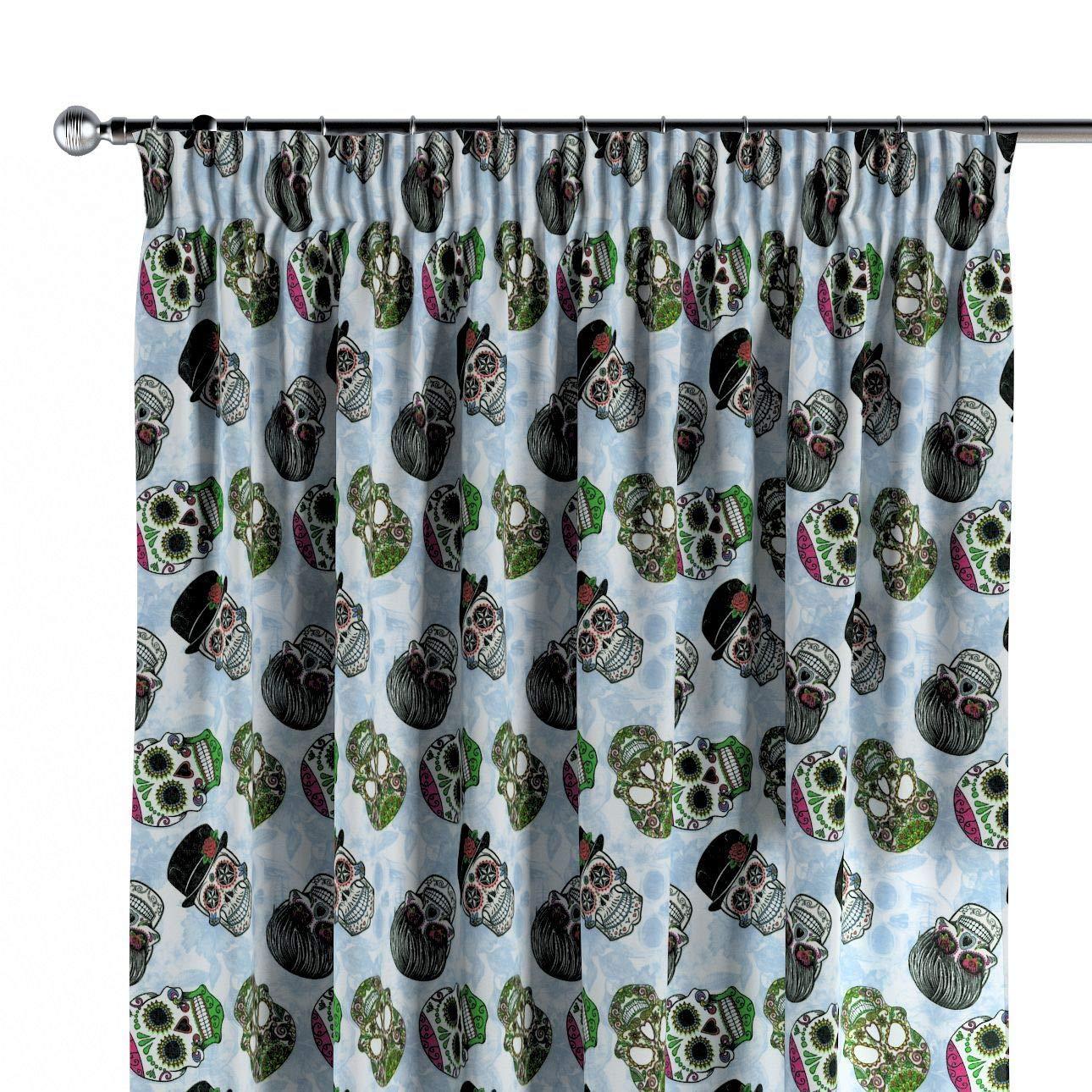 Dekoria Vorhang mit Kräuselband Dekoschal Blickdicht 1 Stck. 130 × 260 cm grün-blau Maßanfertigung möglich