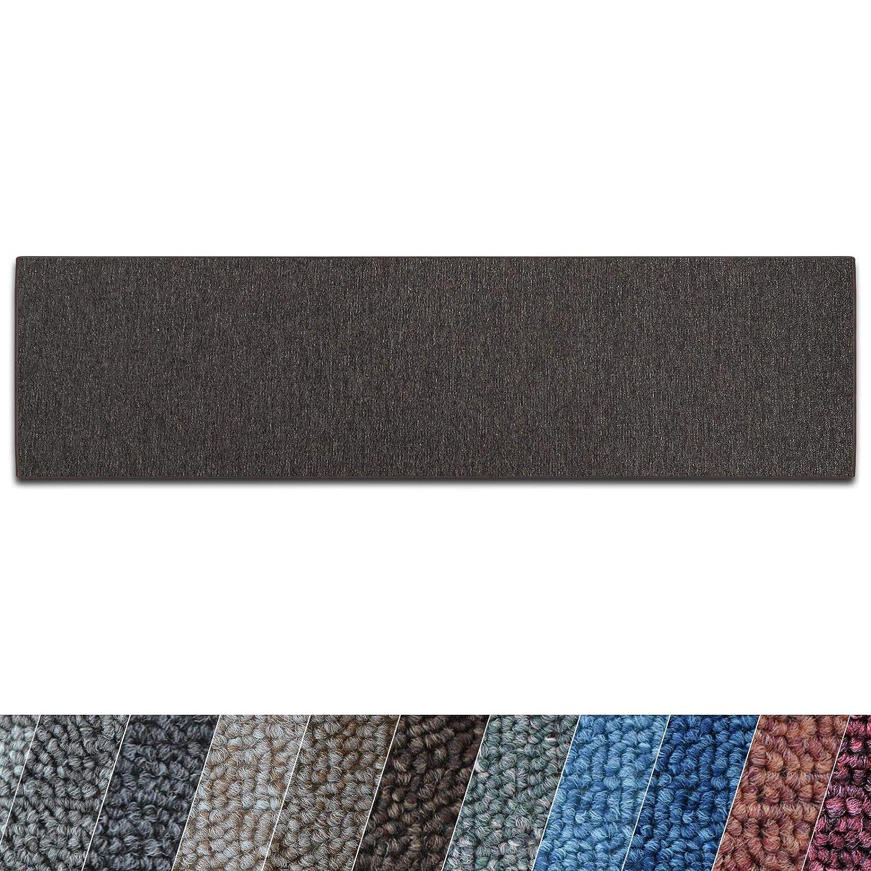 Casa pura Teppich Teppich Teppich Läufer London   Meterware   Teppichläufer für Wohnzimmer, Flur, Küche usw.   flacher Schlingenflor   mit Stufenmatten kombinierbar (Dunkelbraun - 100x350 cm) 445ed4