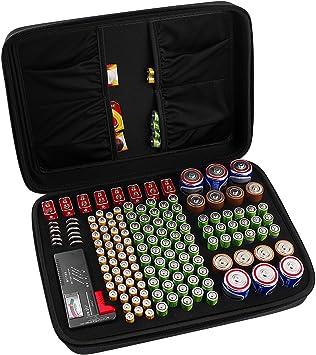 Comecase - Caja organizadora de batería Dura con Capacidad para 142 Pilas AA AAA C D 9 V: Amazon.es: Electrónica