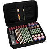 COMECASE Hard Battery Organizer Storage Box, Carrying Case Bag Holder - Holds 148 Batteries AA AAA C D 9V - with Battery Test