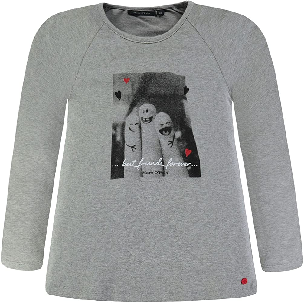 Marc OPolo T-Shirt 1/1 Arm Camiseta de Manga Larga, Grau ...
