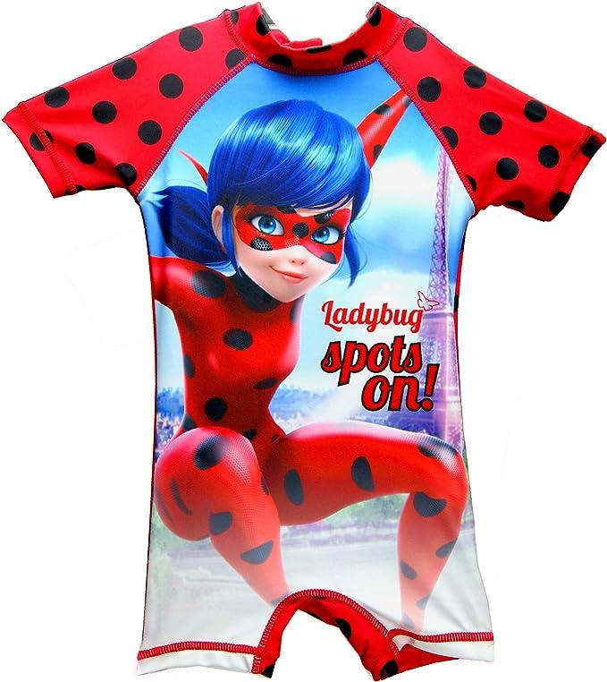 Miraculous Ladybug - Traje de una Pieza - para niña Rojo Rosso 4 ...
